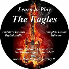Eagles Guitar TABS Lesson CD 108 Songs + Backing Tracks + BONUS!
