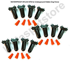 WATERPROOF SPLICE KITS  6 Sets of 2 (12 Tota)l for Underground Hidden Dog Fence