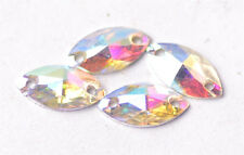 100Pcs Facted Hot Colorized Resin Flat Back Oval Bead DIY Findings 11.5x6mm
