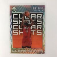 James Harden 2019-20 Illusions Clear Shots Orange Parallel #11 Nets Rockets