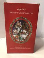 Ingrid's Wintree Christmas Eve Figurines Complete Set Lot of 3