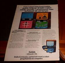 Advertising Italian Pubblicità Werbung: 1977 SABA TELEVISORI A COLORI GERMANIA