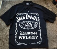 Jack Daniels Old No. 7 Brand Tennessee Whiskey Logo Button Up Shirt Size XL