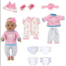 10 Stück Puppenkleidung Mädchen Puppe Kleid Kleidung 4 Stück Baby Doll Spielzeug