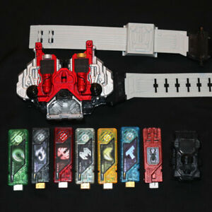 KAMEN RIDER DX W Driver Belt 7p Gaia Memory BANDAI Morphers Double Cosplay Japan