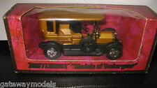 EARLY MATCHBOX YESTERYEARS Y-5 1907 PEUGEOT  GOLD  MADE IN ENGLAND RARE