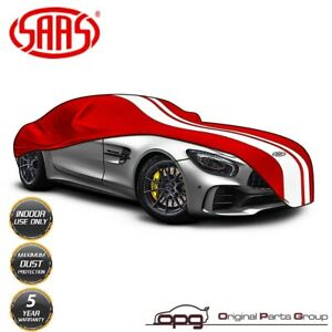 SAAS Classic Car Cover Indoor Fleece Lined for Lotus Elise Exige & Evora Red