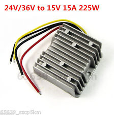 New Waterproof DC/DC Converter Regulator 24V/36V Step Down to 15V 15A 225W