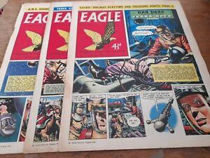 3 EAGLE COMICS 1959