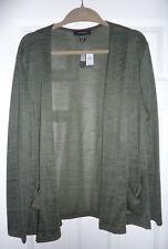 Primark Atmosphere light cardigan 14-16 size 14/16 khaki green loose fit BNWT