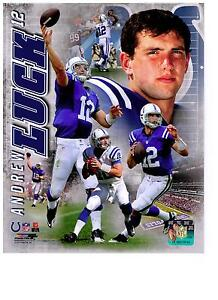 Andrew Luck Authentic Collage 8x10 Photo Indianapolis Colts NFL Hologram