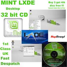 "Linux Mint ""Lisa"" 12 LXDE desktop 32 bit CD Full Operating System"