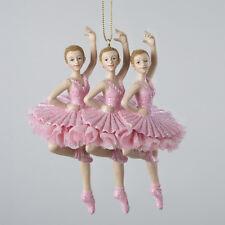 KURT S. ADLER HANDPAINTED TRIO OF BALLERINAS BALLET DANCERS CHRISTMAS ORNAMENT