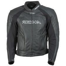 RICHA Piranha Leather Motorcycle Black/White Bike Jacket D3O Armour  WAS £299