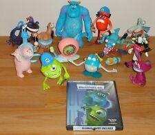 Disney Pixar MONSTERS INC Lot of 13 Toys & DVD