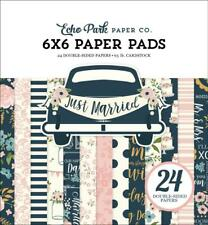 Echo Park JUST MARRIED 6x6 Paper Pad 24pc Wedding Love Bride Family Planner