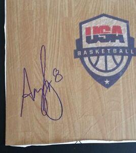 ANGEL MCCOUGHTRY Signed WNBA Floor Board 12 x 12 USA Basketball RIO Olympics