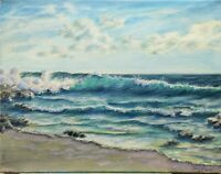 "Art18""/14""oil painting, seascape, nature,realistic ocean waves, landscape"