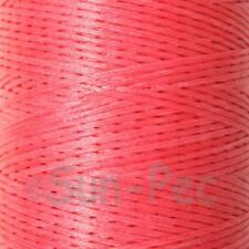 Wax Linen 150D 1mm cord thread for leather repair hand stitching crafts 5 - 50yd