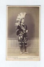 RARE CDV ORONHYATEKHA (1841-1907) Mohawk physician Ontario, Canada Six Nations