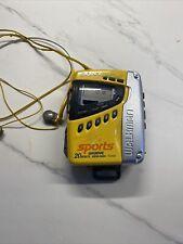 Sony Walkman Sports Portable Am/Fm Radio Cassette Player Wm-Fs497 - Works!