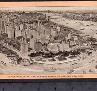 Lower Manhattan 1907 Castle Garden Battery NYC New York Singer Sewing Trade Card