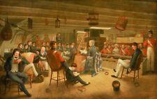 Incorniciato stampa-British FREGATA in mare Augustus Earle 1720 (PICTURE POSTER barca)