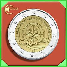 """2 Euro € Gedenkmünze Belgien 2015  """" Jahr für Entwicklung """" Einzelstück"""