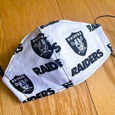 Raiders Fabric Print Face Mask, Washable Fabric  ** FREE shipping!