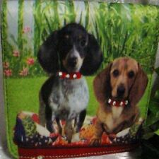Dachshund Pups Microfiber Mini Wallet