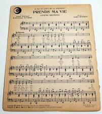 Partition vintage sheet music CARMELA : Prends ma Vie (Oyeme Destino) * 60's