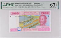 Central African States 2000 FR Cameroun P 208Ue Superb Gem UNC PMG 67 EPQ Top
