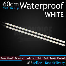 2 X 60CM LED Strip Lights White 36SMD Waterproof Car Auto Camping Caravan Motor