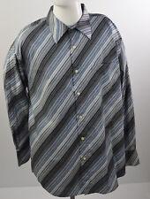 EIGHTY EIGHT Men's sz XXL Shirt Long Sleeves Buttons up 100% Cotton Stripes