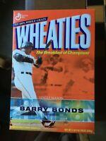 WHEATIES CEREAL BOX 18 OZ / BARRY BONDS / UNOPENED