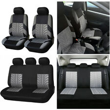 9PCS Universal Car Seat Covers Protector Full Set Polyester Fiber Breathable SUV