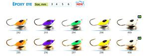 2pcs Tungsten GALVANIC ICE FISHING JIG Mormyshka With Epoxy Drop #829