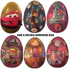 "NEW ONE 6.5""Surprise Egg W/figure Per Egg, Cars, Blaze, Paw Patrol, Princess"