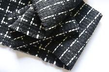 D206 elegante 65%wool10%cashmere 15%c0tton10%viscosa neri & BIANCHI bouclé