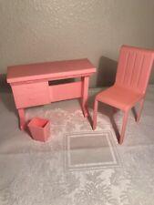 Vintage 1970s Barbie Desk Chair And Wastebasket