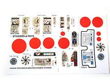 Kenner B-WING BWING FIGHTER Vintage Star Wars replacement Sticker set + BONUSES