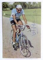 Cartolina con autografo del ciclista Fausto Coppi - Maglia Bianchi - 1949