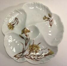 "Antique ""Wave Design"" Oyster Plate by Charles Haviland c.1891-1890"