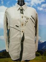 Gr.L Trachtenhemd Imperial beige Leinen mit Hirschhornknöpfen TH1791