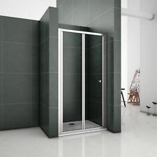 700/760/800/860/900/1000mm Bathroom Bi Fold Shower Door Enclosure Glass Screen