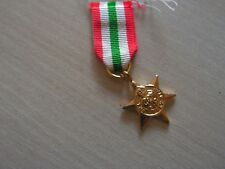 MEDAILLE miniature the italy  star 1939  1945 (ref 6000)