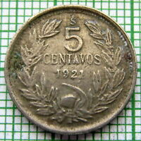 CHILE 1921 So 5 CENTAVOS, ANDEAN CONDOR