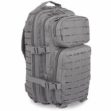 Mil-Tec Small Laser MOLLE Police Security Daysack Assault Pack Rucksack 20L Grey