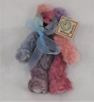 """Sally Winey Mohair fully jointed Rainbow Winey Baby Bear 10"""" tall with signature"""