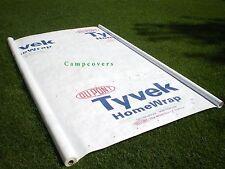 3 x 8 foot Tyvek DuPont Homewrap Ground Sheet Tarp Footprint w// 6 Anchor Loops